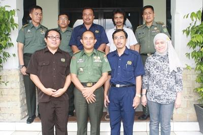 Danrem 064/MY bersama ketua PWI Banten